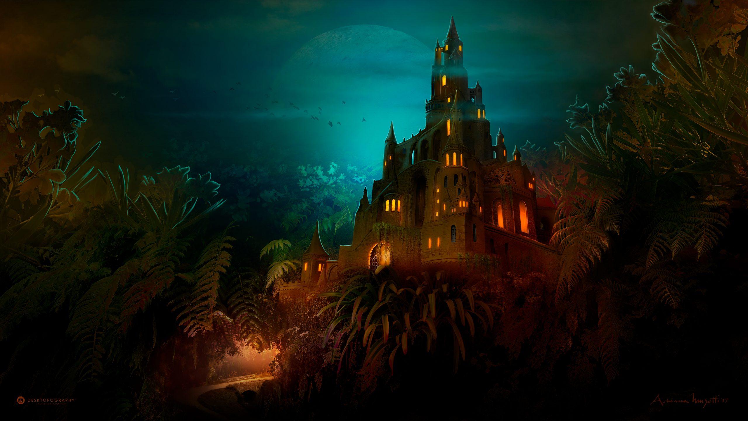 Lilliput Castle and Lilliput castle at night - Desktopography